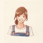 动漫微笑女孩头像